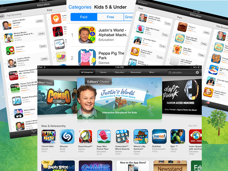 Kids Apps - Justin's World in App Store