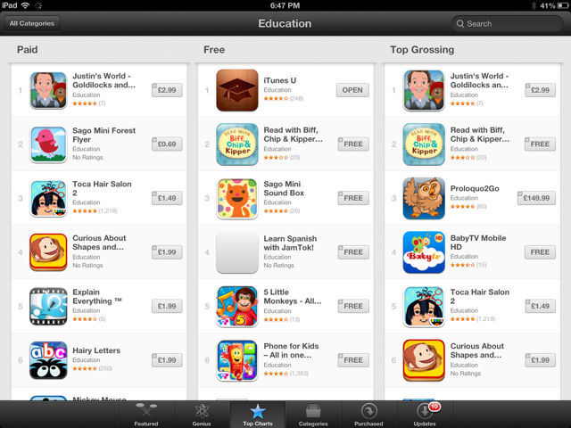 Justin's World Kids App ranked first in App Store