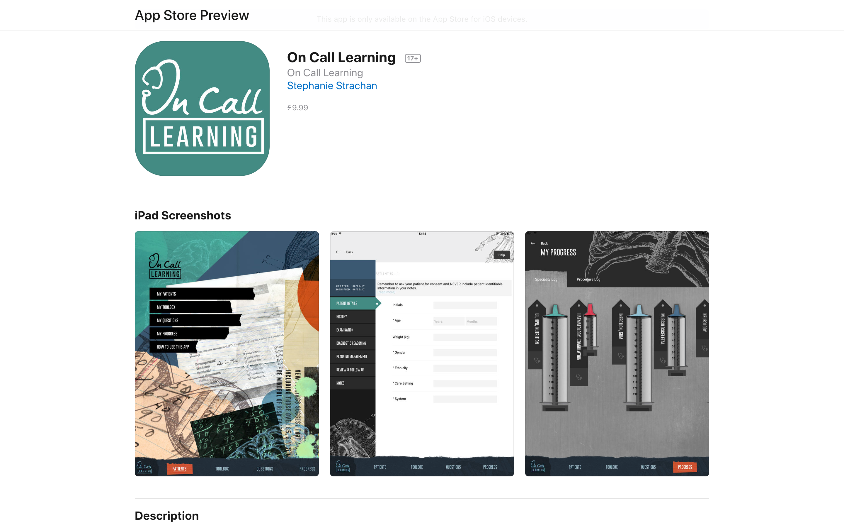On Call Learning App Store Preview