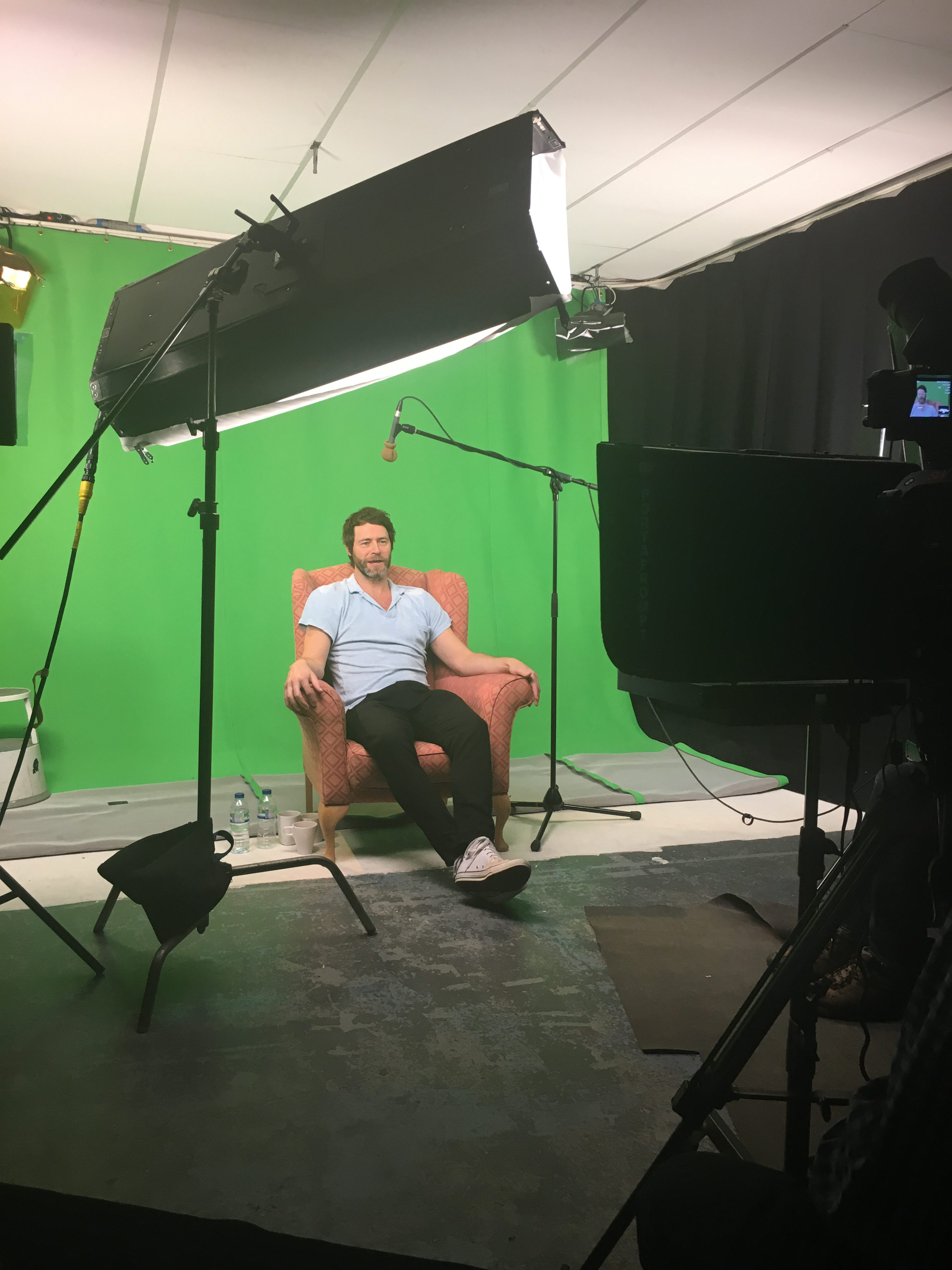 Howard Donald filming short stories
